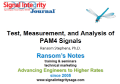 SIJ Webinar Series: Test, Measurement, and Analysis of PAM4 Signals