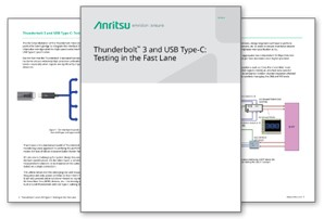Thunderbolt™ 3 and USB Type-C: Testing in the fast lane