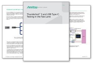 Anritsu Thunderbolt™ 3 and USB Type-C